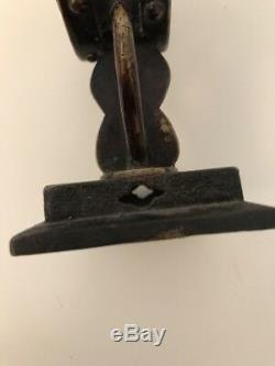 Sculpture Ancienne Bronze Art Dasie Chine Couvercle Brûle Parfum