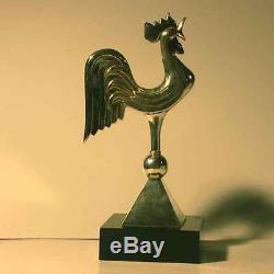 Sculpture Art Deco Coq Bronze