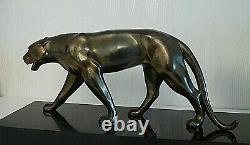 Sculpture Art Deco / Panthere / Lion / Patine Bronze