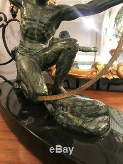 Sculpture Bronze Art Deco Par Germain Hervor, Signé