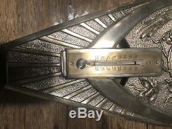 Sculpture Bronze Perroquets Barometre/thermo Art Nouveau (pas Susse)