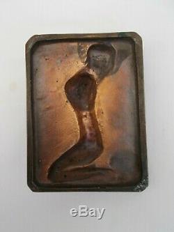 Sculpture Bronze Signe Ruth Richard 2/500 Femme Nue Art Deco Moderniste