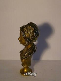Sculpture Bronze signé Caron Art Nouveau formant cachet-Jugendstil circa 1900