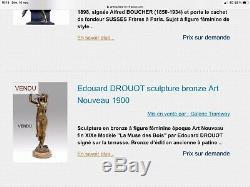 Sculpture En Bronze Orientalistes Art Nouveau Signé E DROUOT