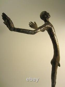 Sculpture Homme Bronze Contemporaine/contemporary Bronze Sculpture/art Moderne