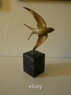 Sculpture L'hirondelle Marbre Art Deco 1920 1930