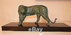 Sculpture Periode Art Deco /bronze / Panthere / Rochard