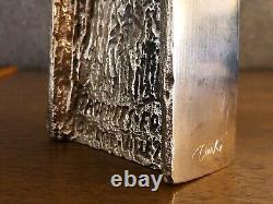 Sculpture Trophee En Bronze, Signée Louis Derbré, Edf 1992 Art