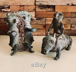 Sculpture art Africain bronze DOGON Mali