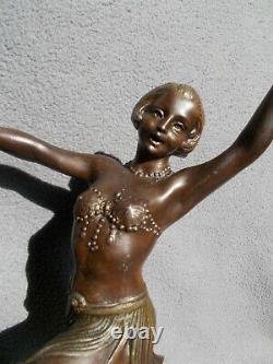 Sculpture art deco 30s statue femme danseuse regule couleur bronze dancer woman