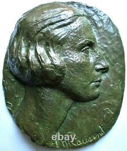 Sculpture bas relief Bronze M. Cousinet Art Déco Cire perdue Valsuani Era Maillol