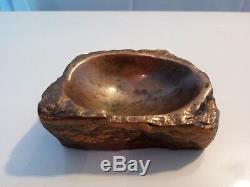 Sculpture bronze Monique Gerber Art du Bronze cendrier / presse papier