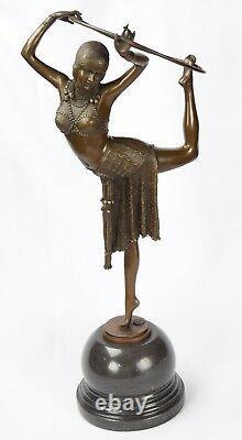 Sculpture en Bronze une Reifentänzerin Bronze Art Déco Sculpture