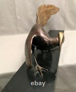 Sculpture en bronze époque art déco faisan
