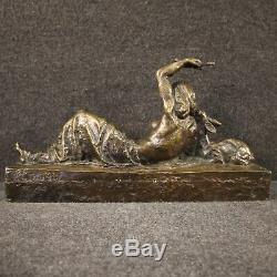 Sculpture en bronze statue style ancien nu de femme 900 art