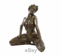 Sculpture érotisme art en bronze style antique statue femme 65cm