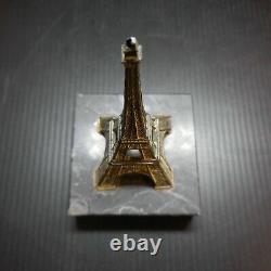 Sculpture miniature Tour Effel bronze marbre 1930 art déco Paris France N6448