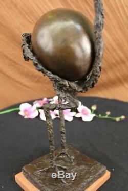 Signé Abstrait Autruche par Picasso Bronze Sculpture Oiseau Figurine Art