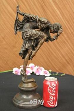Signé Bronze Art Nouveau Déco Chiparus Statue Figurine Sculpture Figurine Statue