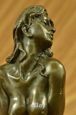 Signé Bronze Érotique Sculpture Nude Art Sex Figurine Statue Figurine