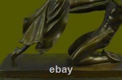 Signé Bronze Sculpture Art Déco Très Détaillé Chair Gymnaste Statue Figurine