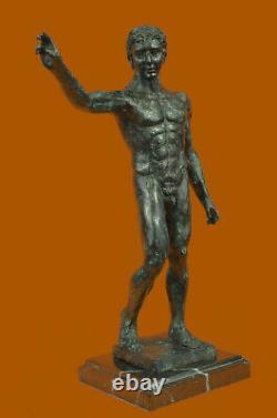 Signé Rodin Abstrait Moderne Art Déco Homme Chair Torse Bronze Sculpture Fonte
