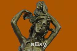 Sirène Mer Nautique Bronze Sculpture Statue Figurine par Lost Cire Méthode Art T