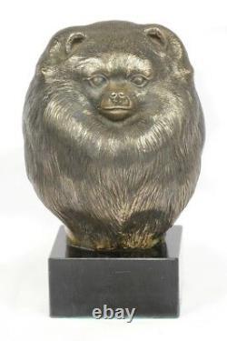 Spitz allemand, statue miniature / buste de chien, édition limitée, Art Dog FR