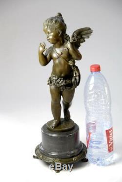 Splendide sculpture Art Nouveau en bronze signée E. Plat