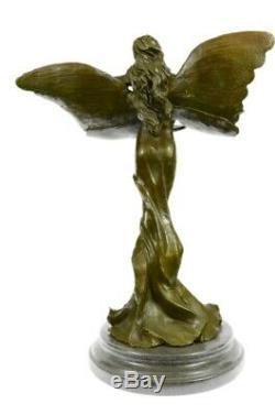 Statue Sculpture Ange Fairy Art Déco Style Art Nouveau Style Bronze Massif Solde