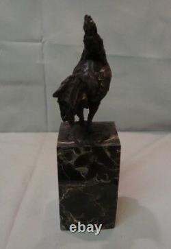 Statue Sculpture Coq Oiseau Animalier Style Art Deco Style Art Nouveau Bronze ma