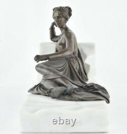 Statue Sculpture Demoiselle Nue Sexy Style Art Deco Bronze massif Signe