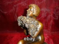 Statue Sculpture Demoiselle Nue Sexy Style Art Deco Style Art Nouveau Bronze mas