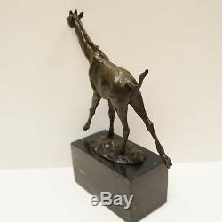 Statue Sculpture Girafe Animalier Style Art Deco Style Art Nouveau Bronze massif