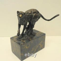 Statue Sculpture Guépard Animalier Style Art Deco Style Art Nouveau Bronze massi