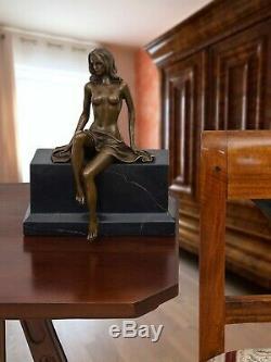 Statue femme érotisme art de bronze sculpture figurine 27cm