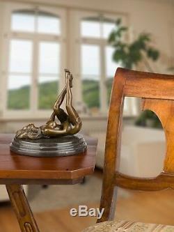 Statue femme érotisme nu art de bronze sculpture figurine 20cm