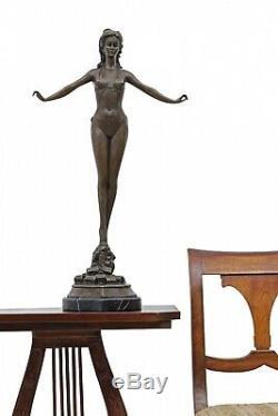 Statue l'érotisme l'art bikini de bronze sculpture figurine 71cm