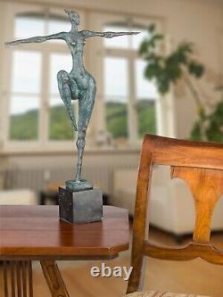 Statue l'érotisme l'art de bronze sculpture figurine 52cm