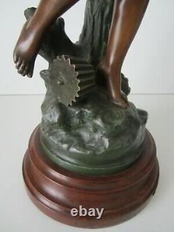 Statuette Art Nouveau/recompense Henryk Kossowski/jean Garnier/pas En Bronze