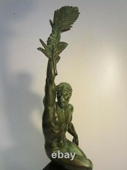Statuette La Gloire Max Le Verrier Le Faguays Art Deco/pas En Bronze/sculpture
