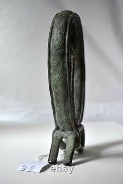 Statuette sculpture homme serpent bronze art africain Dogon Mali