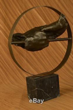 Superbe Abstrait Contemporain Pure Bronze Sculpture Moderne Art par Figurine
