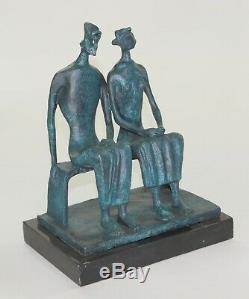 Superbe Qualité Pure Bronze Sculpture Substantiel Abstrait Moderne Art Déco