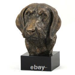 Teckel à poil dur, statue miniature / buste de chien édition limitée, Art Dog FR