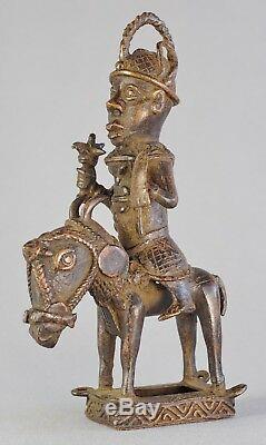 Très joli cavalier Statue Bronze du BENIN African Tribal Art Africain sculpture