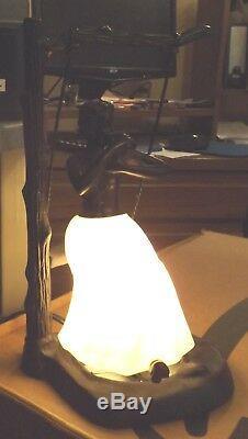 Vintage Bronze Art Déco Femme / en Swing Lampe Nuit Lumière Sculpture Statue