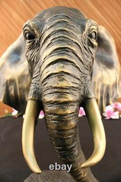 Vintage Grand Bronze Éléphant Sculpture Par A. Barye Beau Art Pièce Figurine